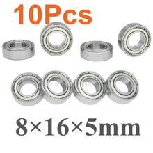 10Pcs Ball Bearings 8x16x5mm 85763 For RC Cars 1 8 1 10 Remote Control Buggy Monster