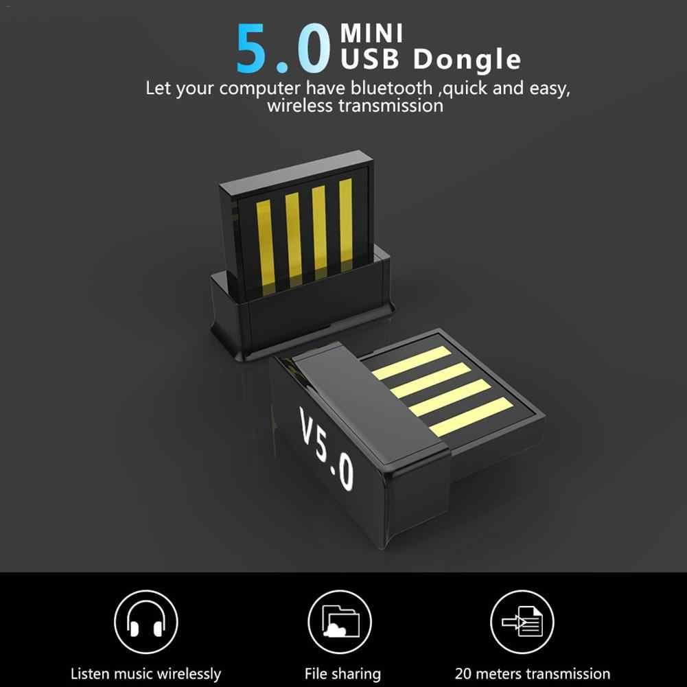 Wireless USB Bluetooth 5.0 Adaptor Komputer Audio Musik Receiver Bluetooth Transmitter untuk TV PC Laptop Keyboard Mouse