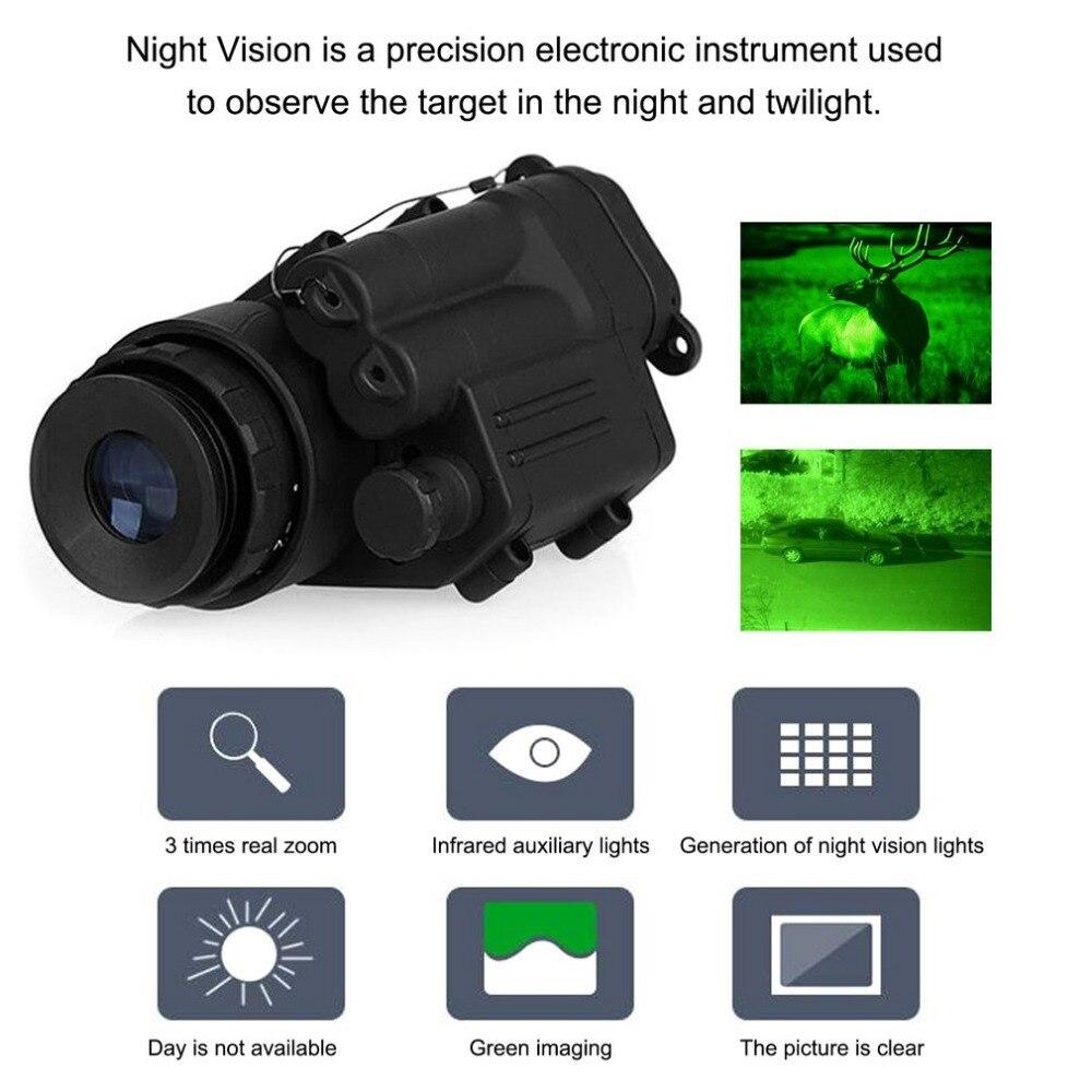 Dispositivo di caccia Cannocchiale Di Visione Notturna Monoculare Impermeabile Occhiali Per La Visione Notturna PVS-Digitale Illuminazione IR Per Casco Nuovo