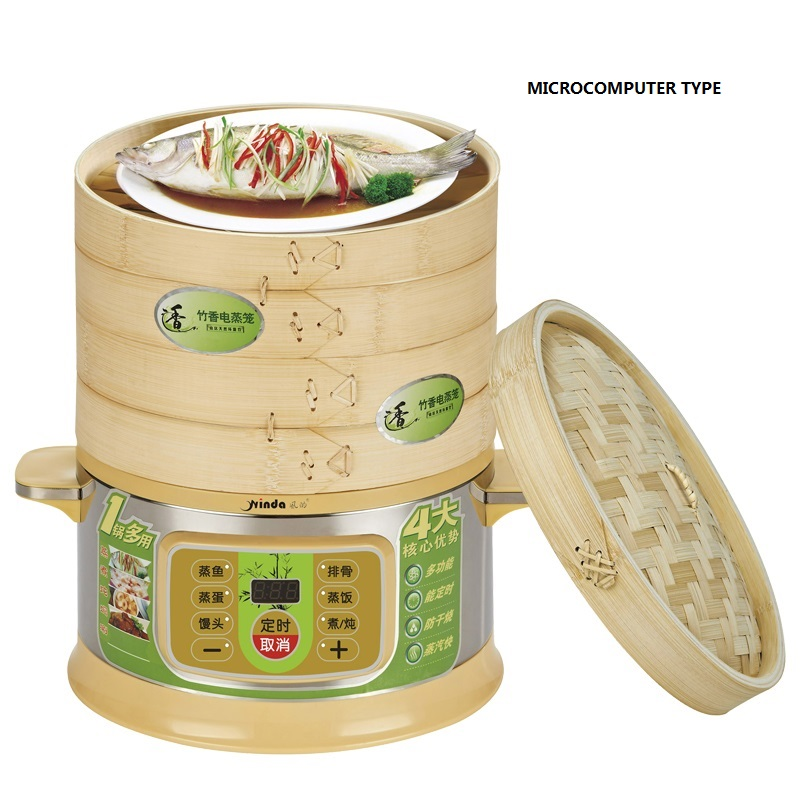 Free Shipping Steamer  12L Electric 3 Layers Of Large Capacity Utility Booking BAMBOO Fragrance Steaming Cooking Pot