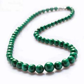 JoursNeige Malachite Natural Stone Necklace Round Beads Tower Chain Necklace Lucky for Women Girl Gift Noble Fashion Jewelry