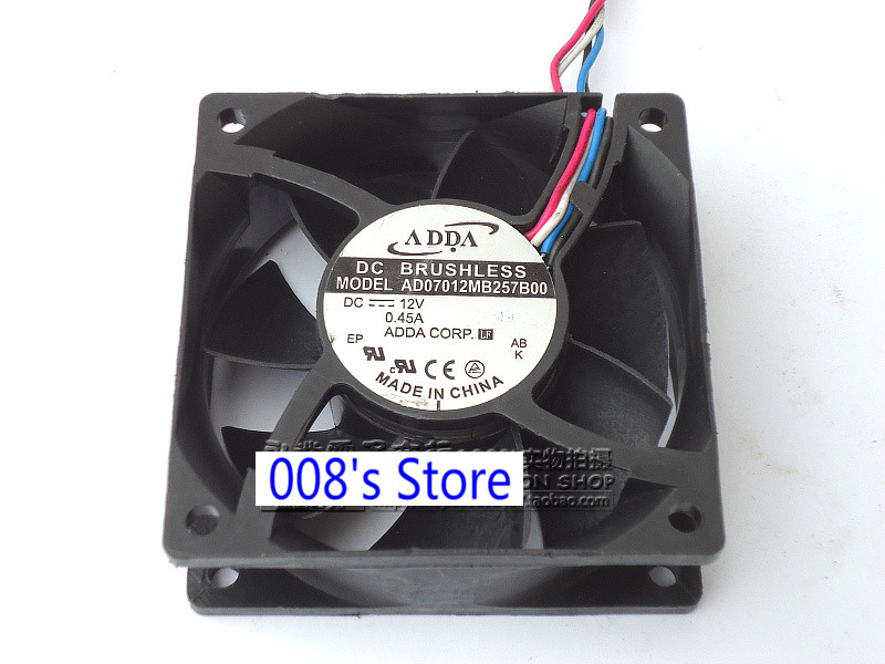 New CPU Cooler <font><b>Fan</b></font> For 7025 AD07012MB257B00 <font><b>70mm</b></font> 7cm <font><b>70mm</b></font>*<font><b>70mm</b></font>*25mm DC 12V 0.45A 4 Wire <font><b>pwm</b></font> Cooling image