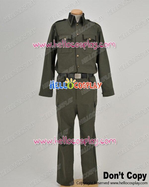 FullMetal Panic Cosplay Sousuke Sagara Kurz Weber Uniform Costume H008
