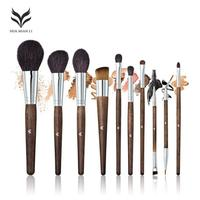 HUAMIANLI 10pcs Set Professional Makeup Brushes High Quality Eyeshadow Eyeliner Face Foundation Blending Brush Make Up