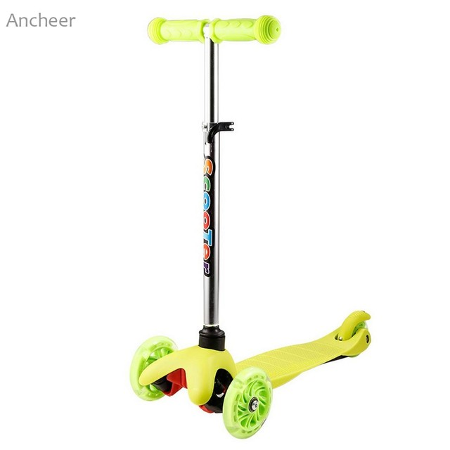 0333284da587 Kids 3 Wheel 4 Levels Adjustable Height Kick Scooter with LED Light Up  Wheels Children Foot Scooters Exercise Toys-in Kick Scooters,Foot Scooters  from ...