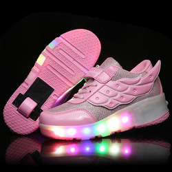 Kids Girls Shoes Children Heelys Roller Shoes Kids Sneakers with Wheels Boys LED Light Up Shoes Zapatillas Deportivas Hombre