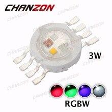 10pcs High Power 3W RGBW LED Chip COB Beads Bulb Light Lamp 8 pins 350mA Red Green Blue White for LED Floodlight Spotlight