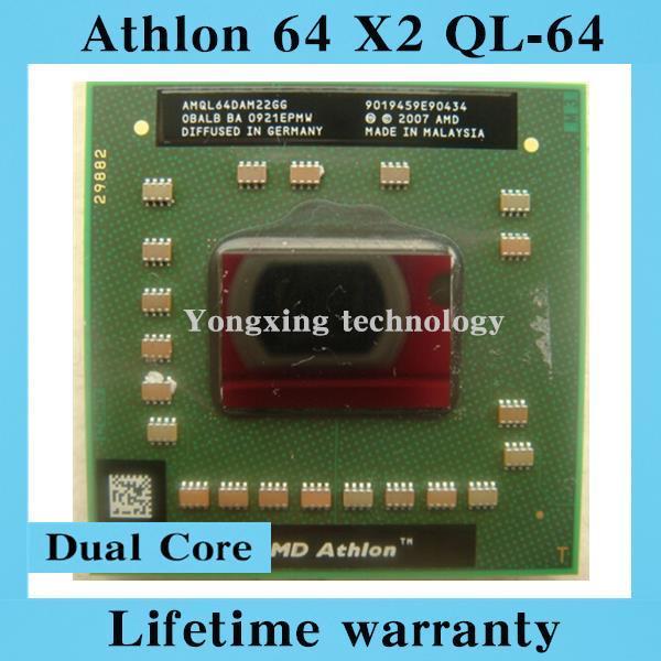 Пожизненная гарантия Athlon 64 X 2 QL64 2.1 ГГц двухъядерный AMQL64 ноутбук процессоры ноутбук процессора гнездо S1 638 контакт. компьютер оригинальный