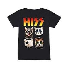 Hiss Kiss Hiss Cat Kid Shirt Summer Men'