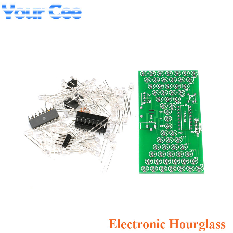 DC <font><b>5V</b></font> LED Electronic Hourglass DIY Kit Adjustable Funny Electronic DIY Kits LED PCB <font><b>Board</b></font> STC15W201S Microcontroller 84*40mm image