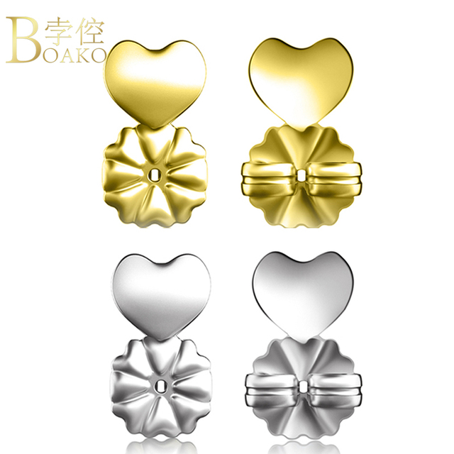 Boako Silver Gold Rose Earring Backs Support Lifts Fits Post Earrings With