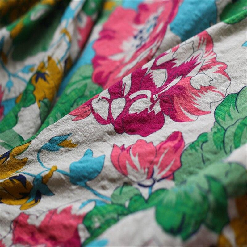 SCUWLINEN Vestidos 2019 Ljetna haljina Vintage Ispis O-neck ogrtač - Ženska odjeća - Foto 6