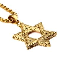 Nuova personalità prepotente uomini e donne afflusso di persone in acciaio al titanio di alta qualità boutique di moda collana Ebraica esagramma