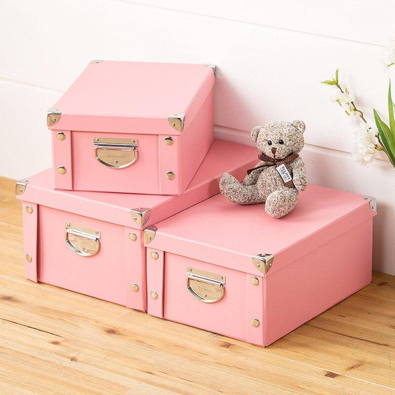 En gros anti-poussière boîte de rangement pour jouets organisateur boîte de rangement pour cosmétiques papeterie maison organisateur couleur boîte tiroir diviseur