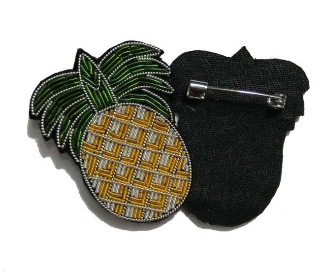 Home PüNktlich Ananas Seide Emboridered Patch Brosche 3d Applique Patches Vintage Perlen Abzeichen Stoff Patch Mode Kleidung Dekoration