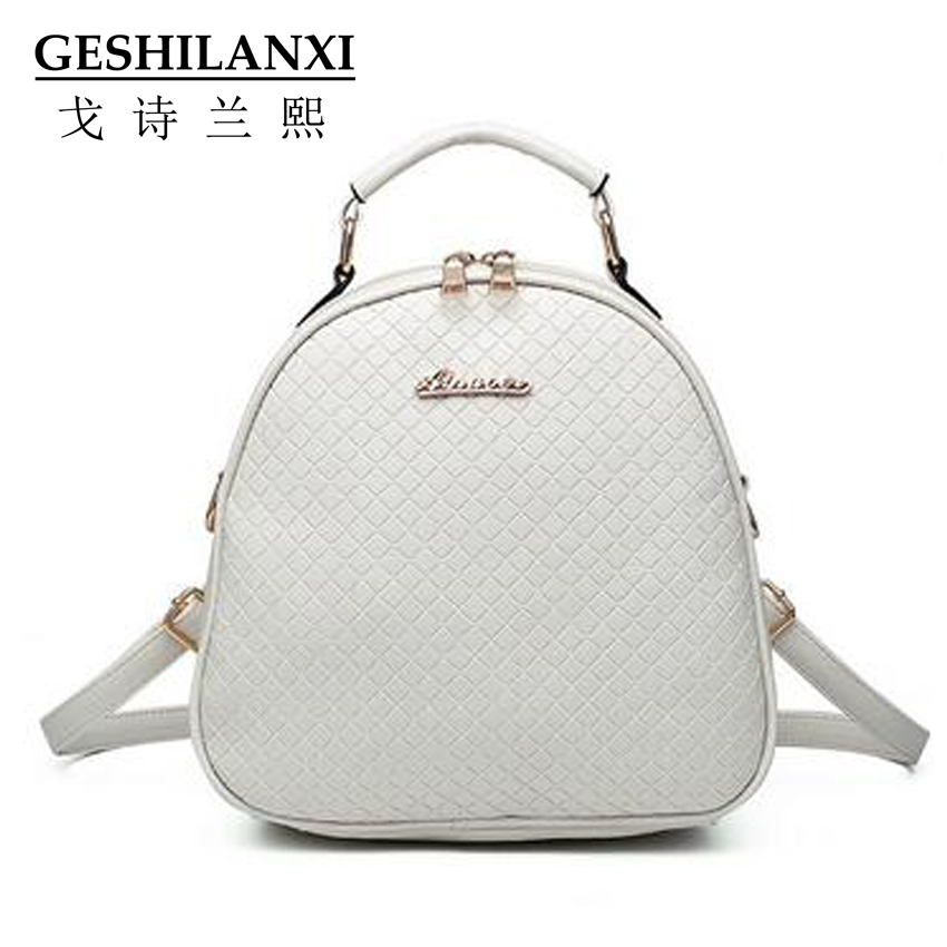 bags brands famous women mini backpack metal sheet button decoration solid color beauty girls diamond