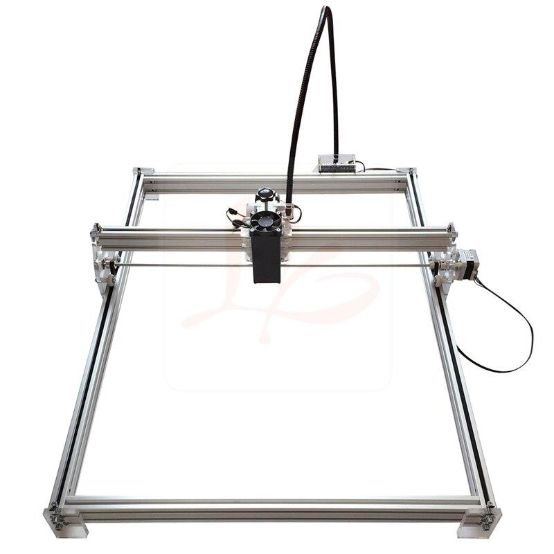 Livraison gratuite 50X65cm 2500MW bleu Violet bricolage Laser graveur IC marquage passe-temps machine avec haut et bas