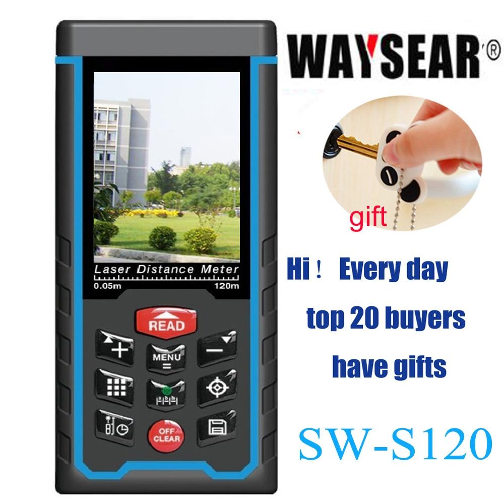 Laser telemetro, telemetro, distanza metro di nastro Con USB, ad angolo, camer Digitale di Misura Righello Angelo Rechargeabel SW-S120/80 m