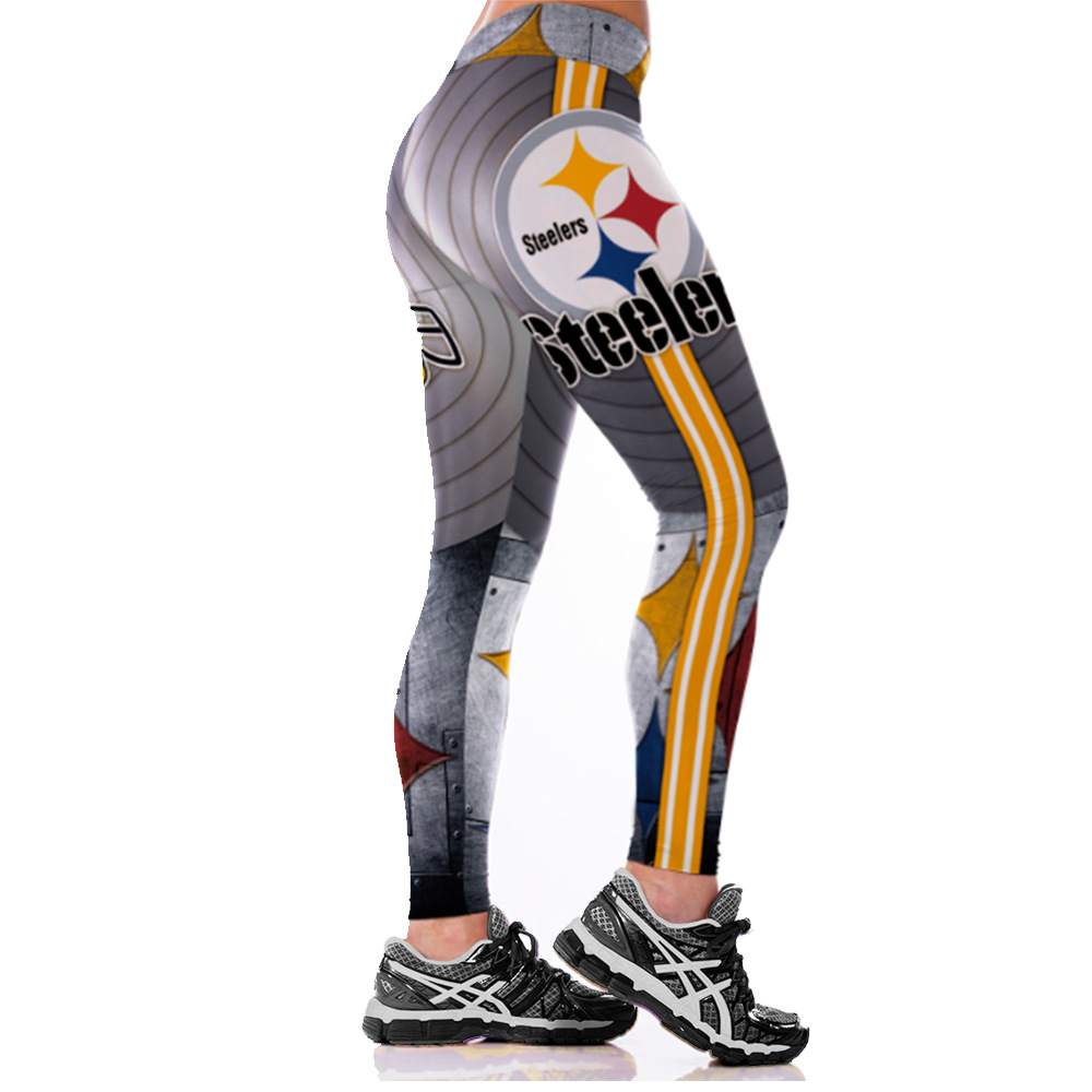 Pants Leggings Football-Team Steelers Running Tight Sport Workout Fitness Unisex Gym