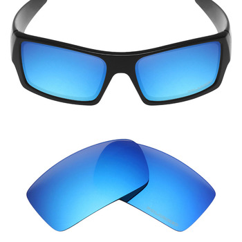 Mryok+ POLARIZED Resist SeaWater Replacement Lenses for Oakley Gascan Sunglasses Ice Blue