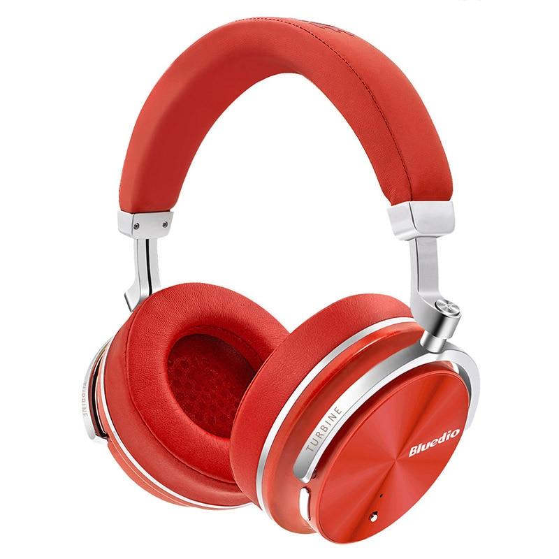 2017 Original Bluedio T4S Active Noise Canceling Trådlösa Bluetooth-hörlurar ANC Edition headset 3D Ljud runt örat