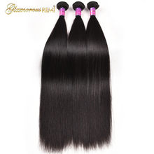 Glamorous Remi Hair 8A Peruvian Straight Virgin Hair Weave 1 3 4 Bundles 100% Unprocessed Remy Human Hair Weft Extensions(China)
