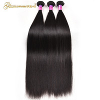 Glamorous Remi Hair 8A Peruvian Straight Virgin Hair Weave 1 3 4 Bundles 100% Unprocessed Remy Human Hair Weft Extensions