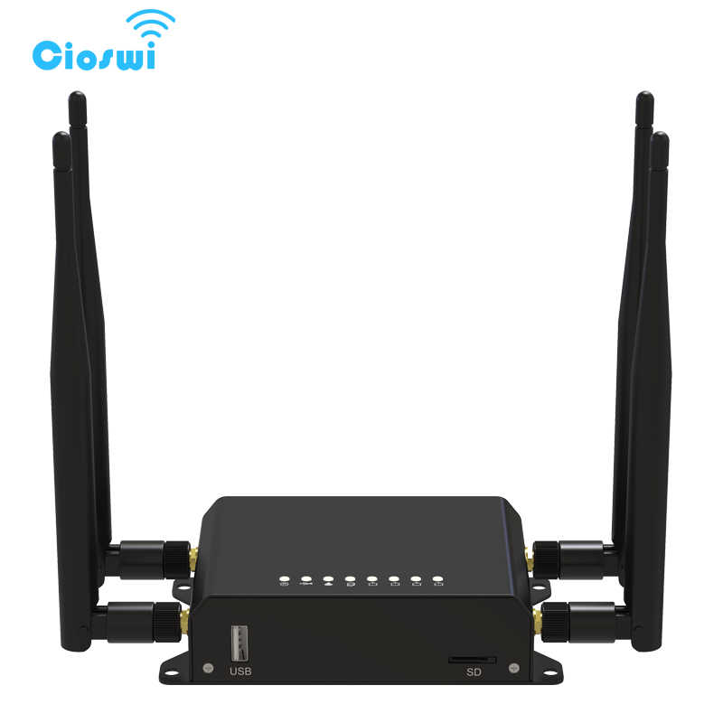 Cioswi 300 Mbps 4G Di Động Router Wifi 3G 4G Modem Với Khe Cắm Thẻ Sim Xe/Bus wifi Router 128 MB RAM OpenWRT Router Lte Wifi Router