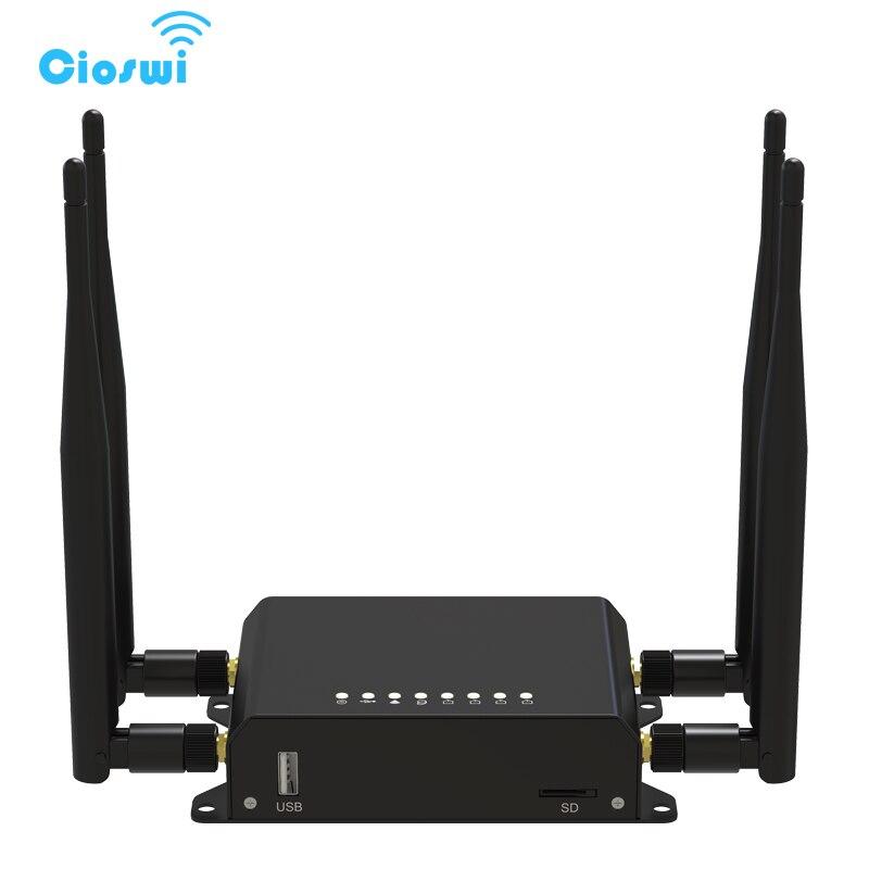 Cioswi 300 Mbps 4G Móvel 3G 4G Modem Roteador Wi-fi Com Slot Para Cartão Sim Do Carro/Ônibus router wi-fi 128 MB RAM OpenWRT Router Router Wi-fi Lte