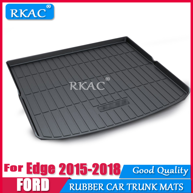 RKAC Car RUBBER Cargo rear trunk mat For For Ford Edge 2015 2018 Styling Boot Liner Tray Anti slip Mat accessories WATERPROOF