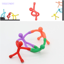 10 or 8 PCS Fun mini Novelty action Figure magic Magnetic Sticker Bendable Magnet funny Office Toys for children gift birthday