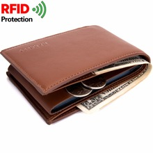2018 New Design Men Wallet RFID Theft Protect Coin Bag Zipper Men Wallets Famous Brand Mens Wallet Male Money Purses Wallets недорго, оригинальная цена