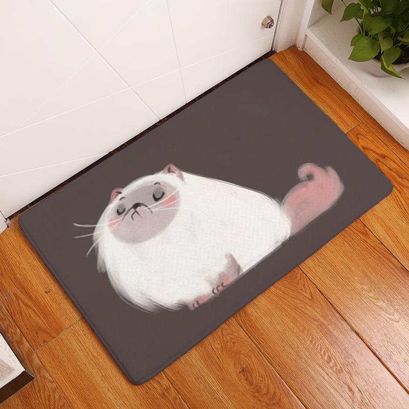 Cartoon Flannel Carpet Cats Printing Mat For Living Room 40x60cm 50X80cm  Door mat Rectangle Tapete - us138 a9d36694373