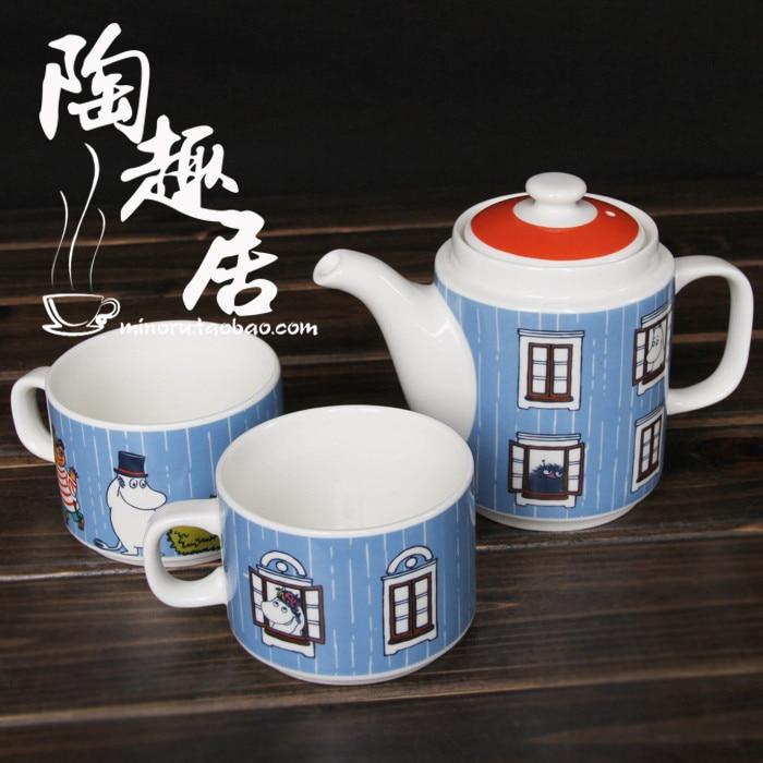 Moomin tea service set teapot stainless steel colander cup - Cup stainless steel teapot ...