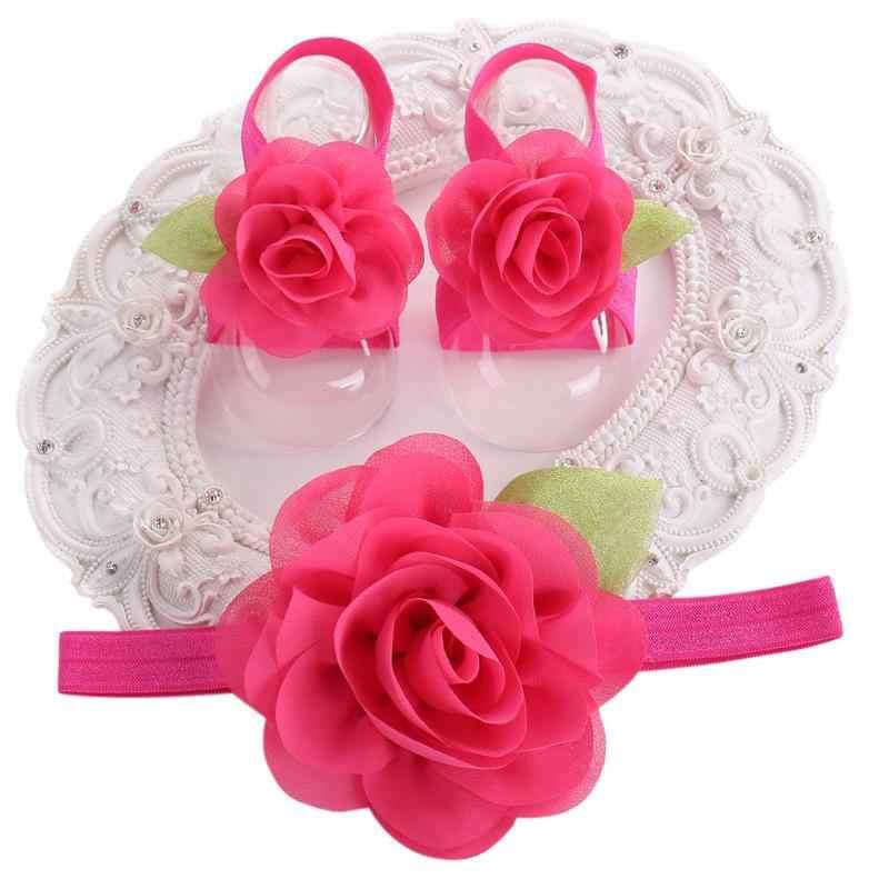 2016 новорожденных фото реквизит Zapatillas Bebe Девушки вязанные крючком пинетки комплект цветковых оголовьев, детская обувь девушки зима, обувь для маленьких девочек