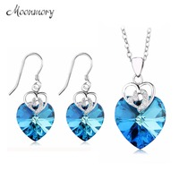 Moonmory 925 Sterling Silver Jewellery Luxury Jewelry Earrings And Necklace Ethiopian Turkish Jewelry Gifts For Women