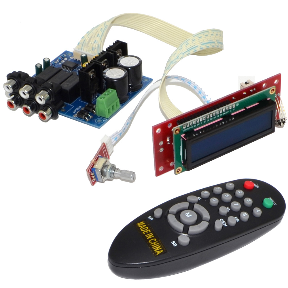PGA2311 3 Channel Volume Remote Preamplifier Kit for Amplifier Free Shipping with Track Number 12003191 gzlozone diy kit njw1194 remote volume conrol kit treble