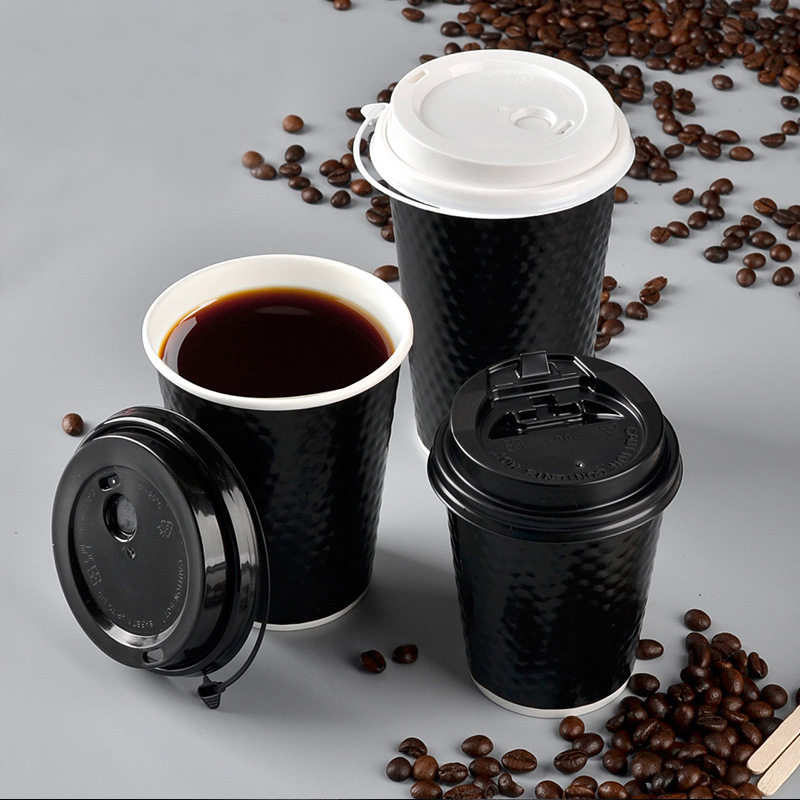 SINGLE WALL Paper Cups WHITE Tea Coffee Party Hot Cold Drinks TABLEWARE 500x 8oz