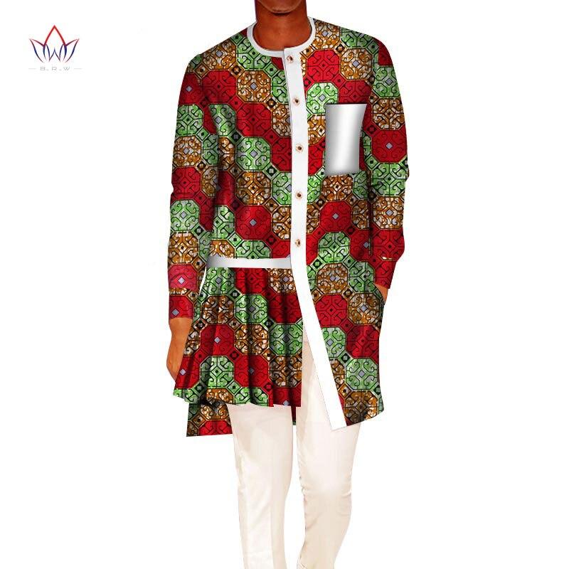 Printemps imprimé africain Dashiki hauts de pour t-shirts drôles hommes vêtements africains à manches longues afrique vêtements de sport col rond WYN534