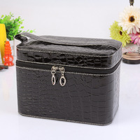 Capacity Large Crocodile Cosmetic Bags Box Jewelry Display Case Personalized Makeup Bag Kit Necessarie Women Travel Beauty Case