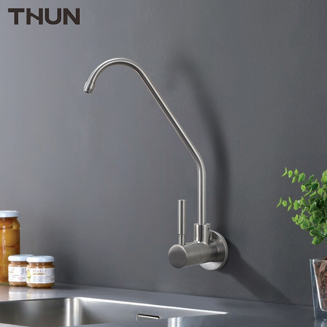 THUN Stainless Steel Water Filter Taps Kitchen Faucet Wall Mounted ...
