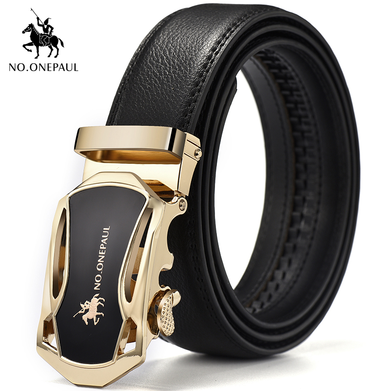 NO.ONEPAUL Brand Belt Quality Design Leather Two-layer Leather Black Fashion Belt Men's Denim Belt Youth Leisure Accessories