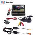 "Wireless 3in1 Car Vehicle Radar Detectors Backup Camera With Night Vision & 4.3"" Foldable LCD Rear View Monitor"