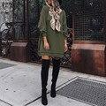 ZANZEA Pullover Mulheres Outono Vestido 2016 Das Senhoras O Pescoço Solto Mini Vestido Sexy Vestidos de Camisola Casuais Vestidos Plus Size S-5XL