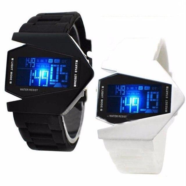 Creative Digital Watches Led Children Kids Watches Sport Clock Silicone Watch Ba