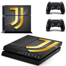 Juventus Football Team PS4 Skin Sticker Decal Vinyl for Sony Playstation 4 Console and 2 Controllers PS4 Skin Sticker