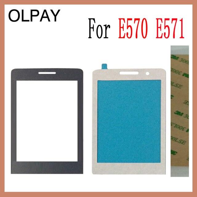 """OLPAY 2.8 """"100% Mới Ban Đầu Ống Kính Mặt trước Cho Philips E570 ĐTDĐ Kính cho Xenium CTE570 LCD Điện Thoại Di Động miễn phí Vận Chuyển"""