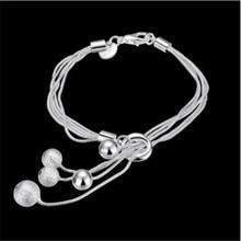 Fashion Europe  Elegant Lady 925  Silver Bracelet Small O Salad Beads Bracelet