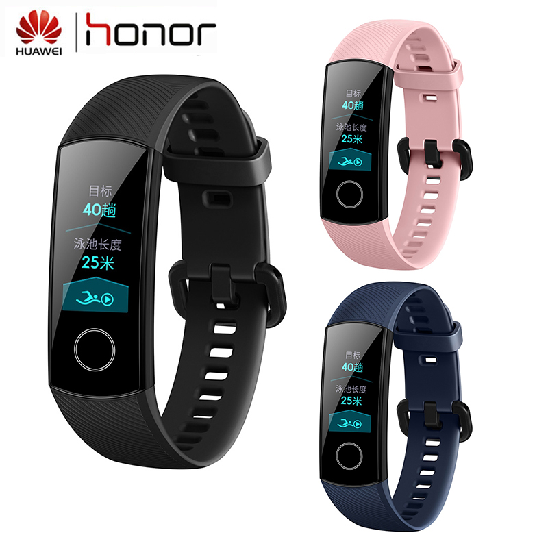 Huawei Honor Band 4 Smart Bracelet Fitness 0.95inch AMOLED Touch Screen Tracker Real-time Track Sleep Heart Snap Smart Wristband