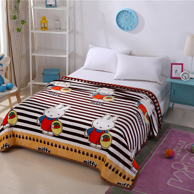 Home Textiles,radish Rabbit Style Best Fabric Coral Fleece Blankets For Bed  Bedclothes Can Be